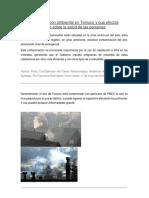 Trabajo tecnología contaminación ambiental en Temuco
