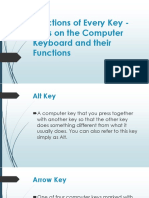 Functions of Every Key