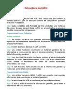 Estructura del ADN y Sintesis de proteinas
