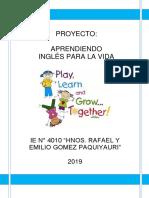Proyecto Ingles 2019