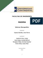Informe Monográfico sobre Madera