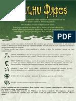 Cthulhu dice - Regas Em Portugês
