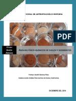 Analisis Fisico-quimicos de Suelos y Sed