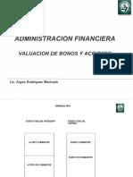 Valuacion de Bonos y Acciones vs Af
