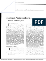 Robust Nationalism - Samuel Huntington