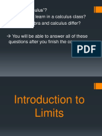 Limits Introduction