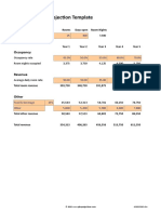 Hotel Revenue Projection Template v 1.1