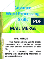 Lesson 4 Word Processing Skills - Mail Merge