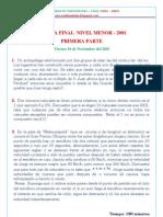 Olimpiadas de matematicas -CHILE - 2000 Al 2004_Nivel Menor