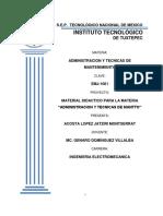 Administración y Técnicas de Mantenimiento EMJ