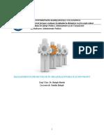 SUPORT de CURS Managementul Proiectelor