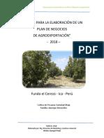 Pautas Para La Elaboración de Un Plan de Negocios de Agroexportación