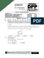Class XII Physics DPP Set (08) - Prev Chaps - Electrostatics