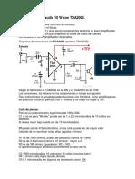 Amplificador de Audio 10 W Con TDA2003
