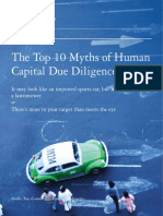 The Top Ten Myths of Human Capital Due Diligence