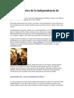Relato Histórico de La Independencia de México