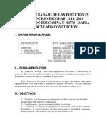 Plan de Trabajo de Las Elecciones Del Concejo Escolar 2018