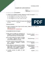 CLAVE Examen Carto II