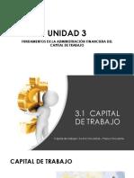 UNIDAD 3 Fundamentos de Admon Financiera Capital de Trabajo