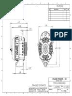 Plane Power ALT-FLX Alternator Dimensions