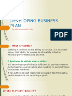 Developing Business Plan Session 4