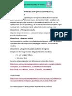 Lineamientos Para Canto Del Cnm