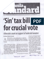 Manila Standard, June 3, 2019, Sin tax bill up for crucial vote.pdf