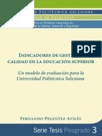 Indicadores de Gestion y Calidad en La Educacion Superior
