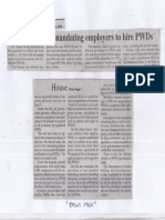 Philippine Star, June 3, 2019, House OKs bill mandating employers to hire PWDs.pdf
