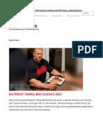 Flex Magazine Nutrient Timing