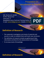 Introduction to Research - Md Roufuzzaman