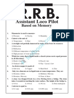 RRB ALP Memory Based Question Paper 2