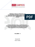 Normas de Construcción ETAPA 2005 (Vol II)