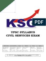 Syllabus- UPSC Civil Services Exam - KSG India
