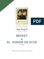 Anouilh, Jean - Becket O El Honor de Dios [Doc]