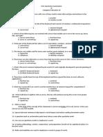 First Quarterly Examination - Computer Education 10.docx