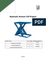 Scissor ladder lift design  (Project)