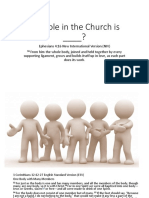 My Role in the Church is?