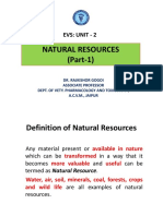 Evs Unit 2_natural Resources Part1