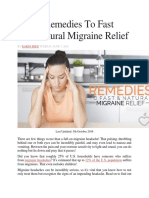 6 Best Remedies to Fast and Natural Migraine Relief