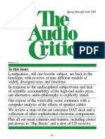 The Audio Critic 16 r