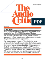 The Audio Critic 17 r