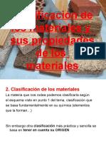 Clasificación de Los Materiales y Sus Propiedades De