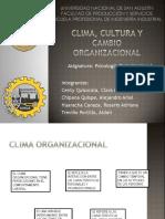 Clima Cultural y Cambio Organizacional