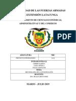 Chimbo Tapia Veloz Informe Metodología de Investigación