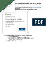 Procedure to Enable Microsoft MFA v2