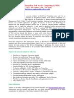 International Journal on Web Service Computing IJWSC