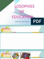 Philosophies of Education