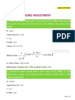 Bonds Numericals by ALIND APOORVA