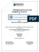 Study of Budgeting Process and Budgetary Control